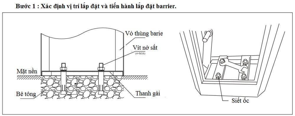 Hướng dẫn lắp đặt barie BS306