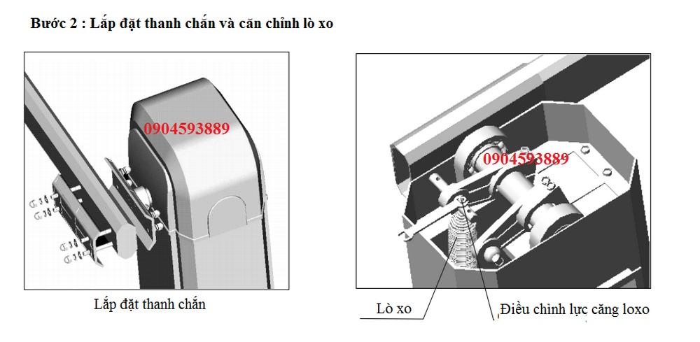 Hướng dẫn lắp đặt barie BS306 2