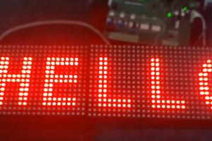 Bảng led kết nối plc