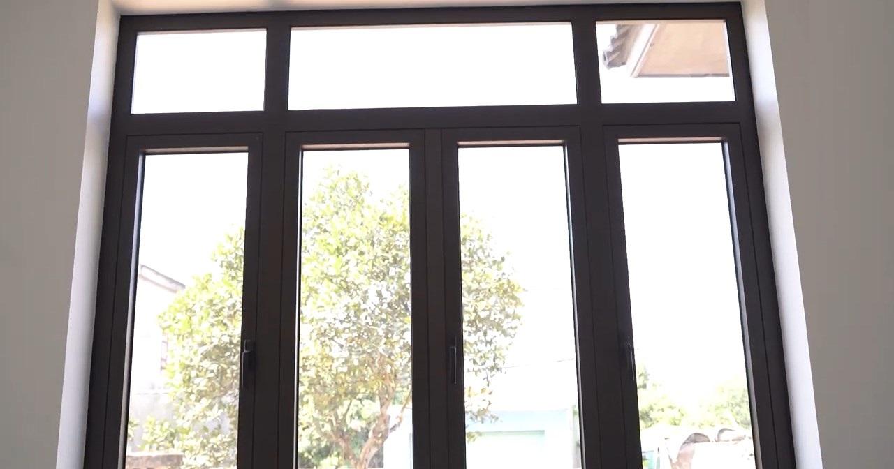 cửa sổ nhôm tầng 1 biệt thự tại hải phòng